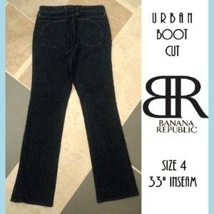 Like New! Banana Republic Urban Boot Cut Dark Jean